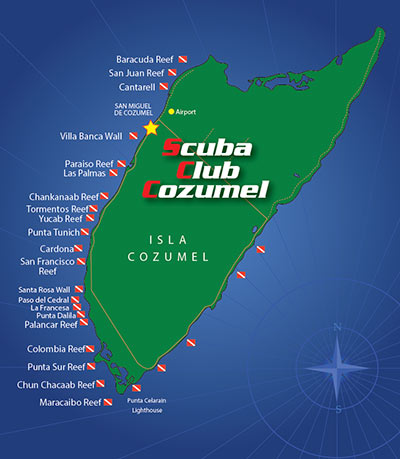 Cozumel map